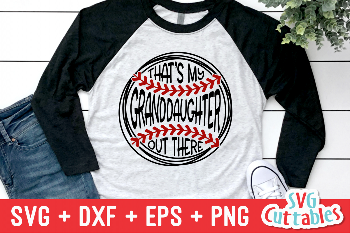 That's My Granddaughter Out There | Softball | SVG Cut File example image 1