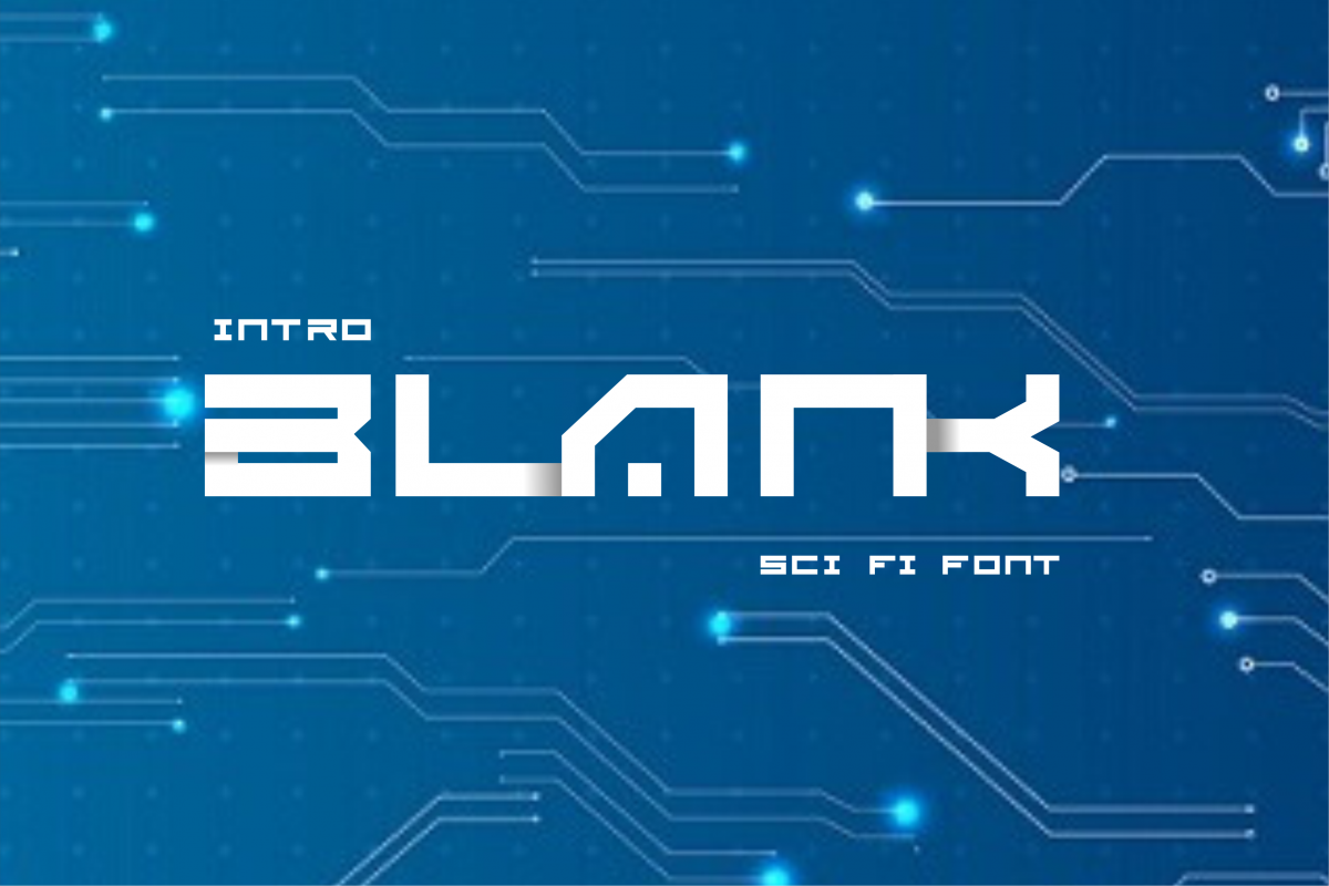 BLANK - Sci Fi Font ( 2 Font) example image 1