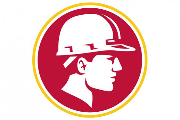 Builder Hardhat Side Circle Retro example image 1