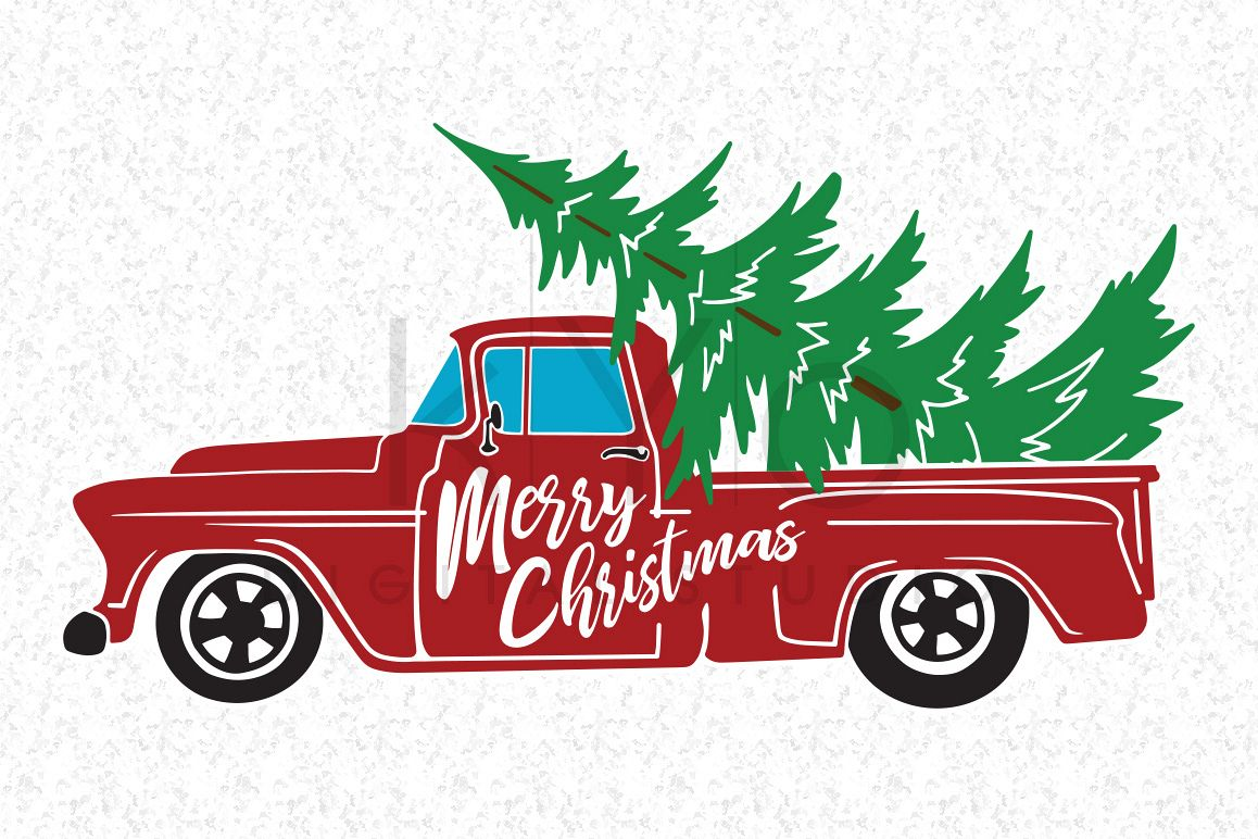 Christmas Truck SVG DXF PNG EPS Vector Files Merry Svg Old