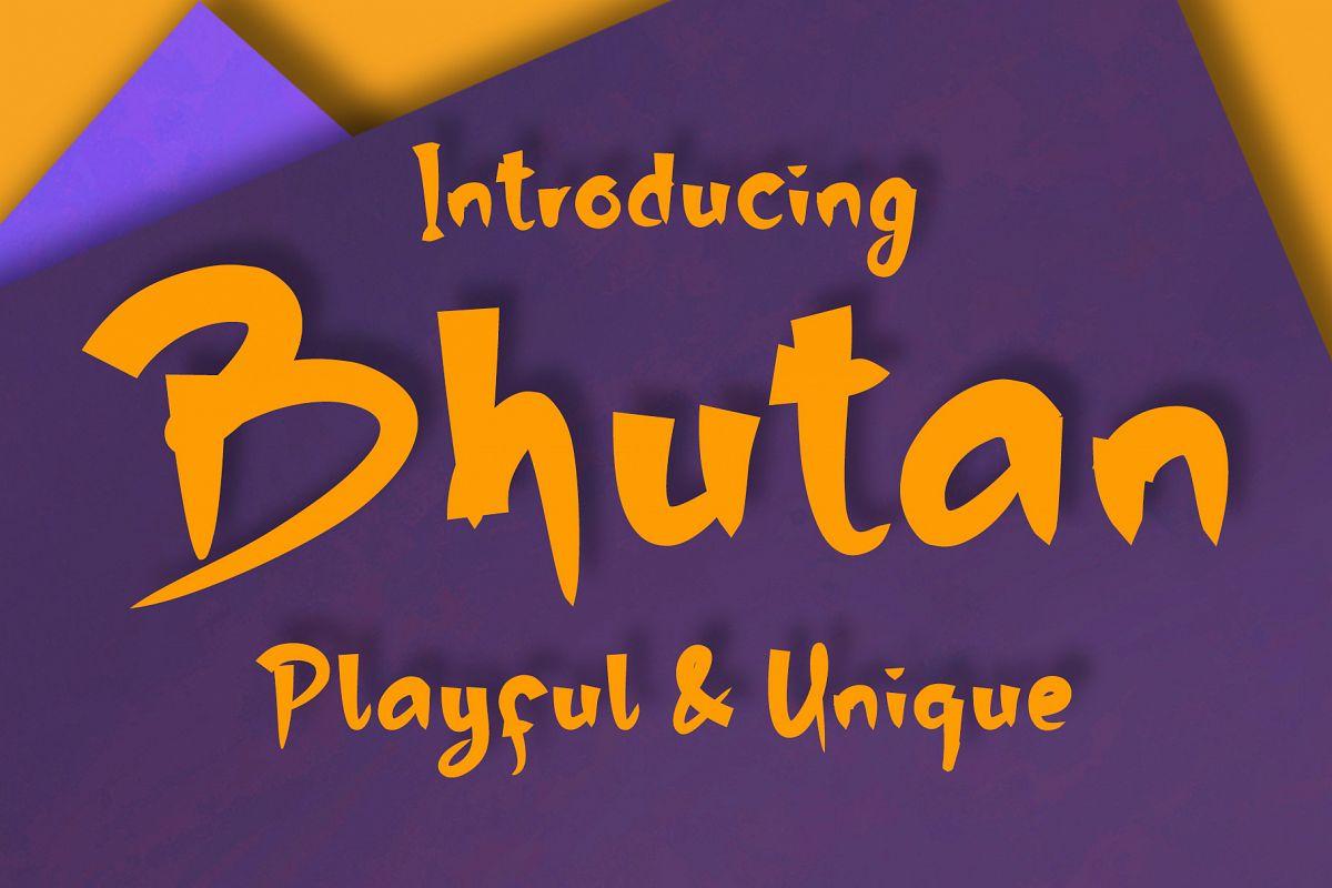 Bhutan   Display Font example image 1