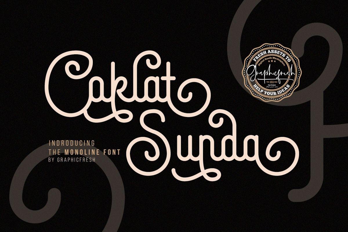 Coklat Sunda - The Monoline Font example image 1
