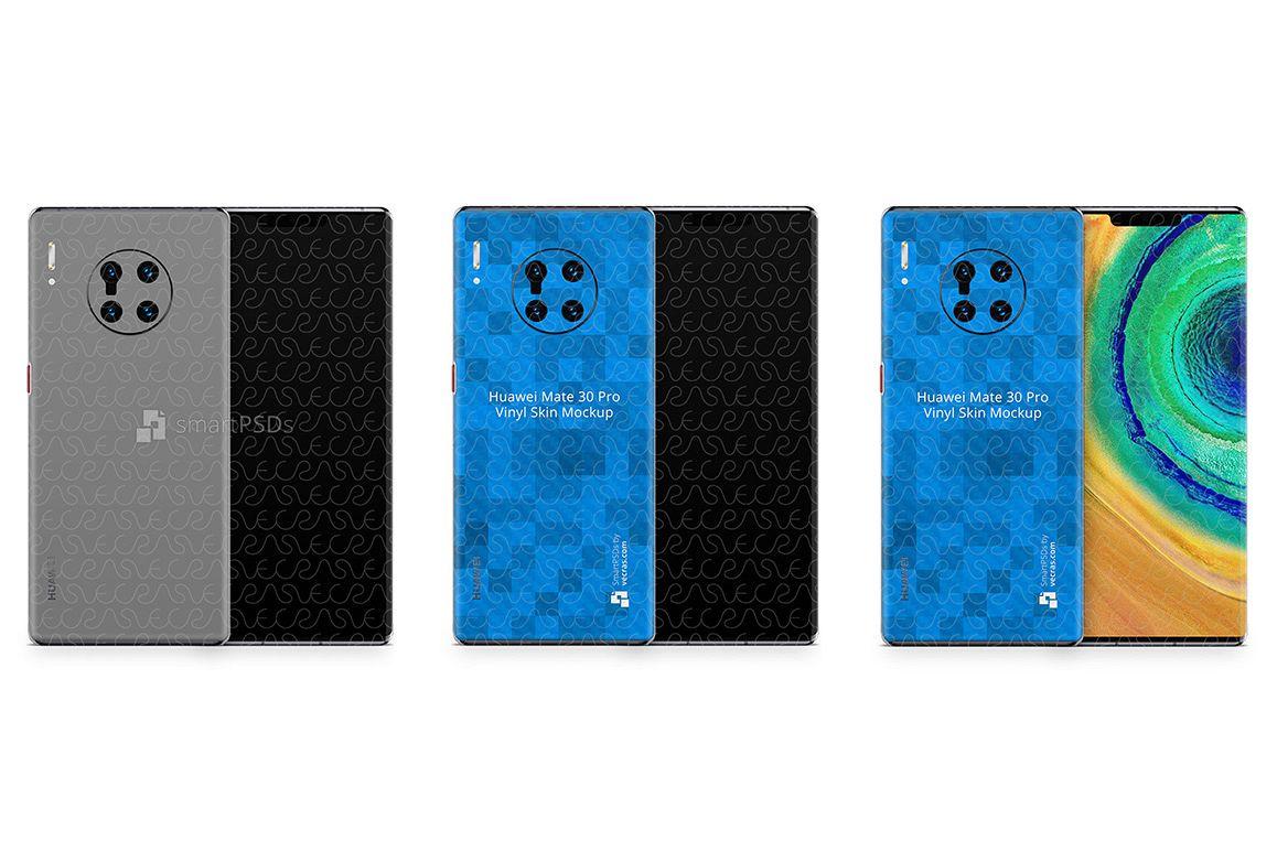 Huawei Mate 30 Pro 2019 PSD Skin Mockup Template example image 1