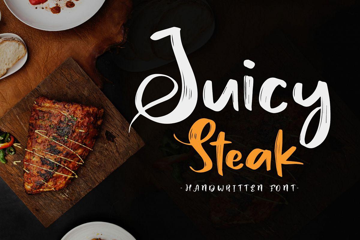 Juicy Steak - Handwritten Font example image 1