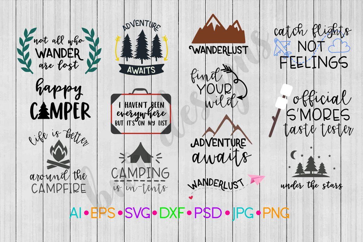 Camping SVG Bundle, Adventure SVG Bundle example image 1
