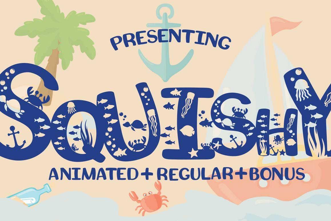 Squishy A Beach Craft Font