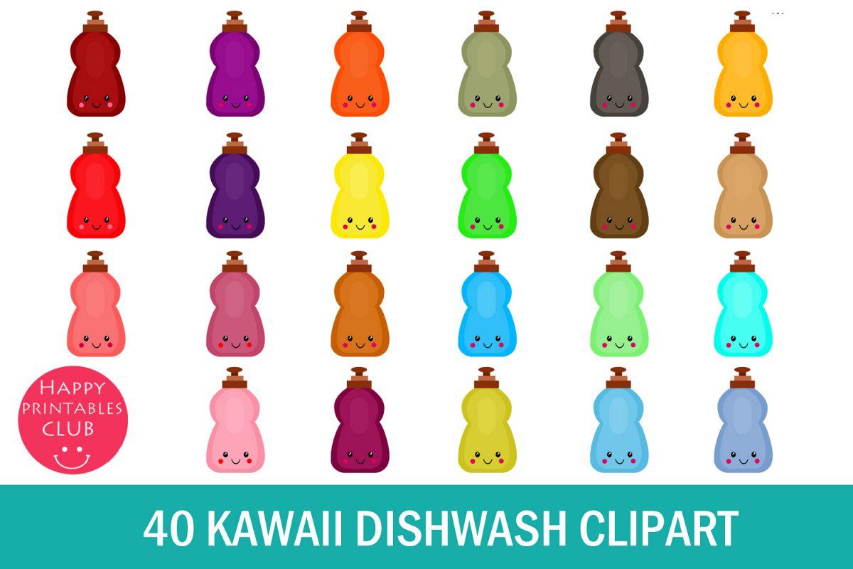 40 Kawaii Dishwash Clipart- Dishwash Clipart PNG Images example image 1