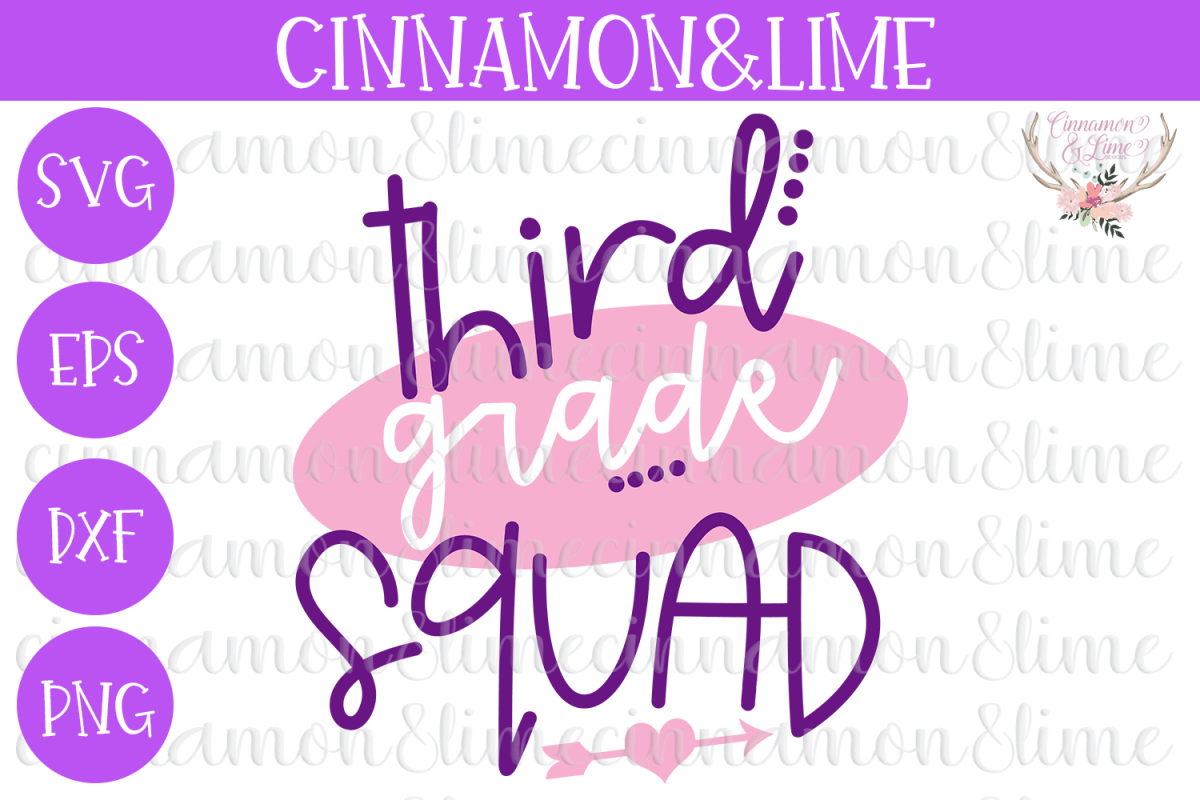 3rd Grade Squad SVG example image 1