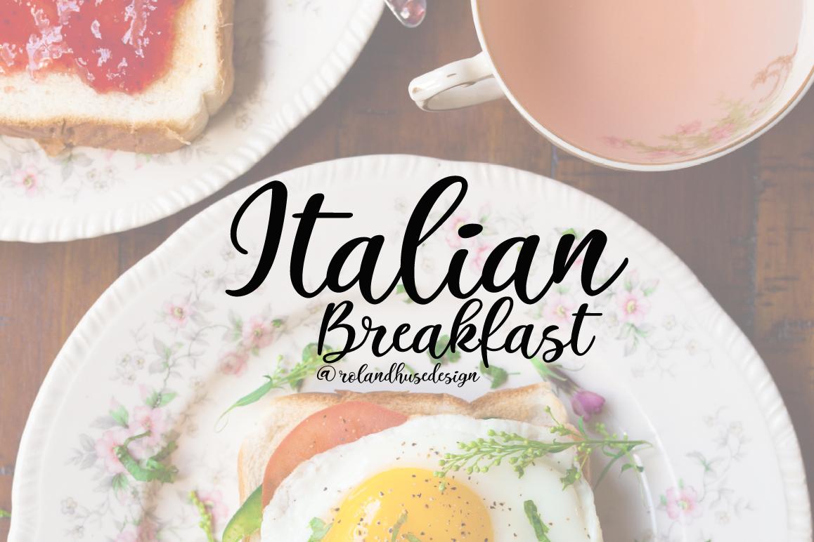 Italian Breakfast example image 1