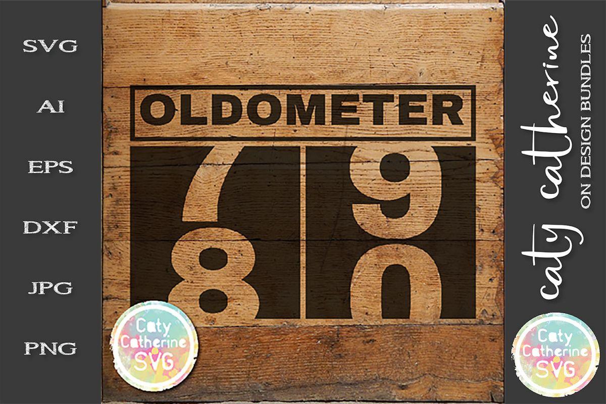 80 Eighty Eightieth Birthday Oldometer SVG Cut File example image 1