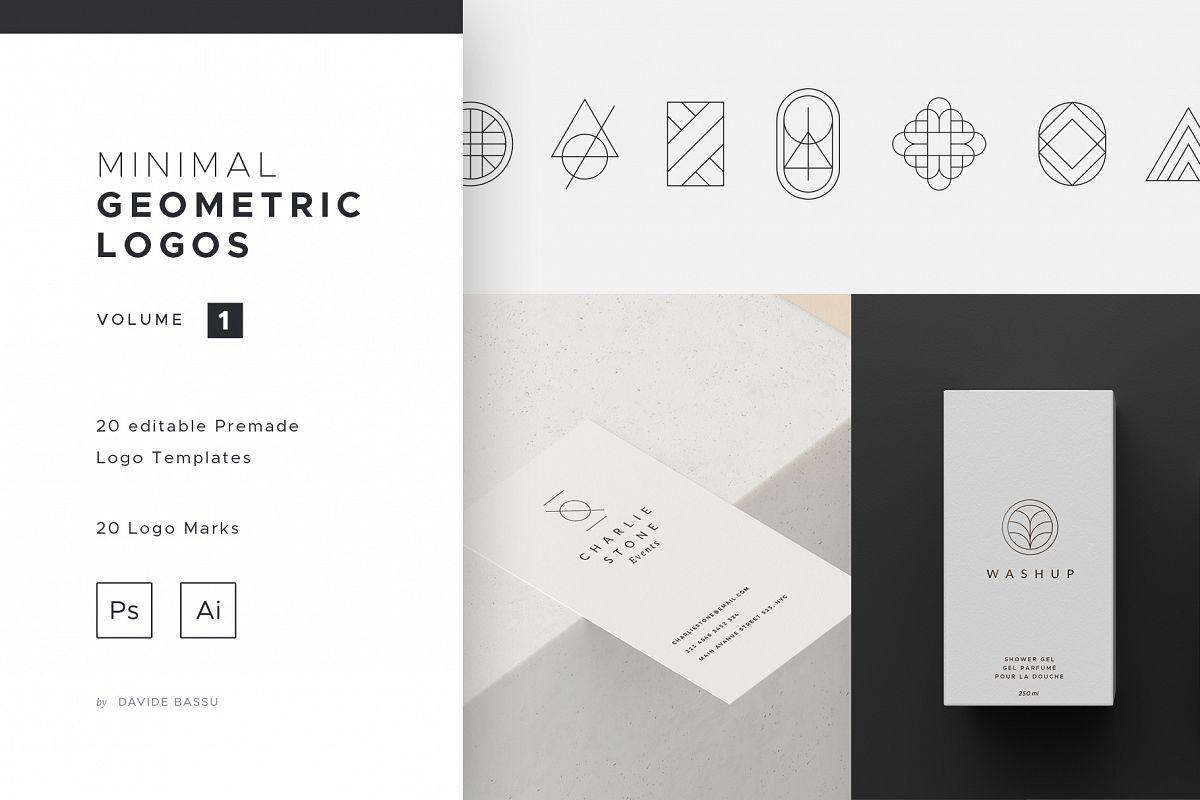 Minimal Geometric Logos - Volume 1 example image 1