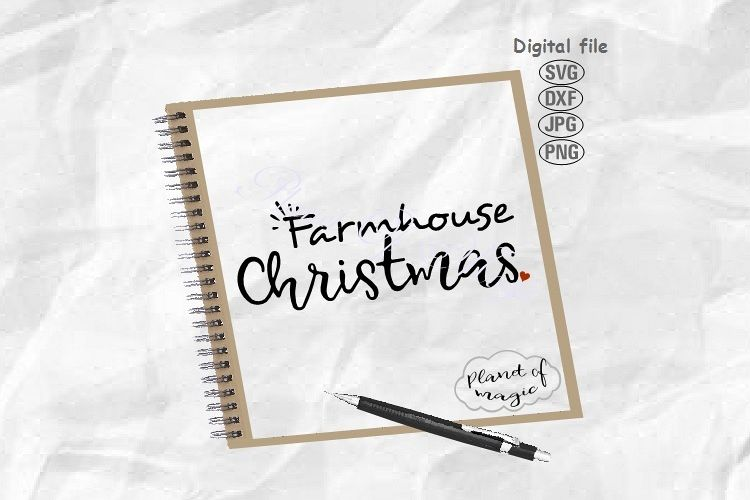 Farmhouse Christmas Svg, Christmas Svg, Farmhouse Sign Svg example image 1