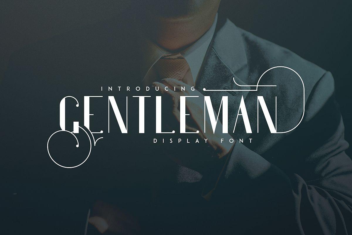 Gentleman font  10 Logo Templates example image 1