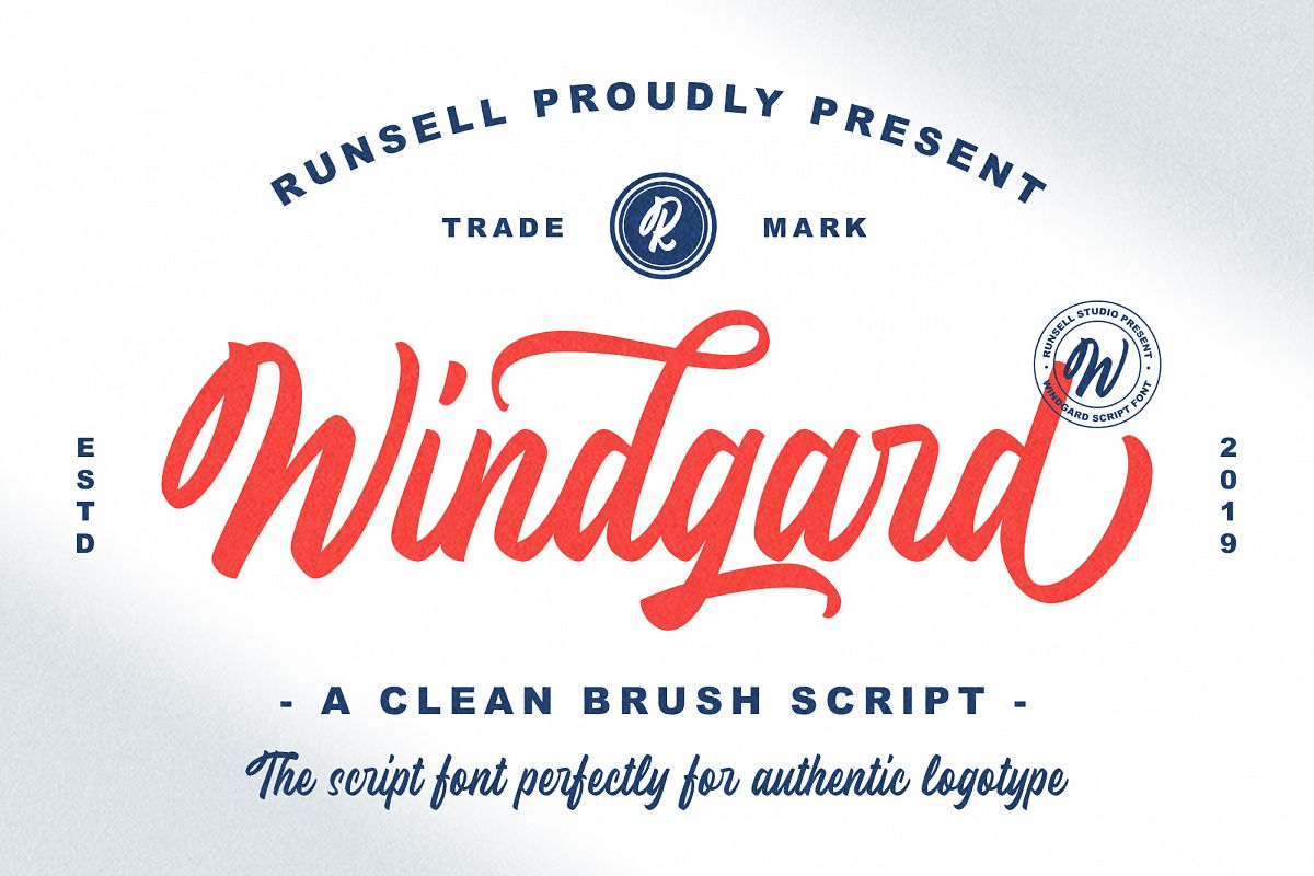 Windgard | Clean Brush Script example image 1