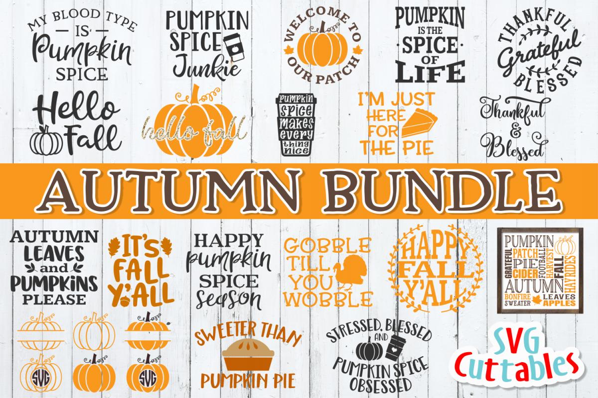 Autumn SVG Bundle| Fall SVG Bundle | Cut Files example image 1