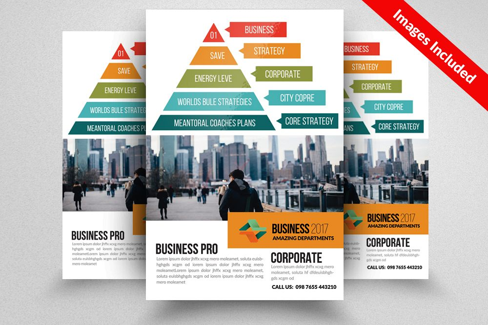 Business Pyramid Flyer Templates example image 1