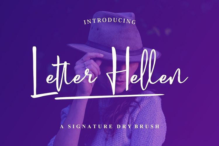 Letter Hellen Signature Dry Brush example image 1