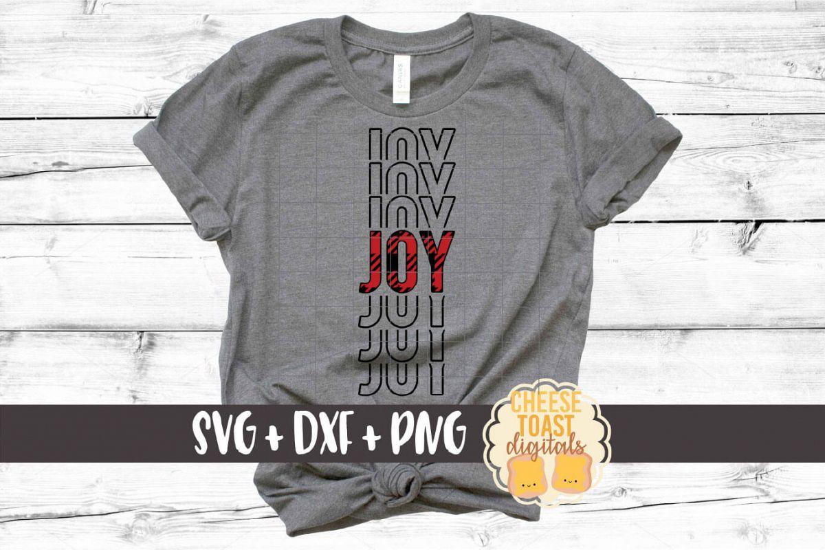 Joy - Buffalo Plaid Christmas Mirror Word SVG PNG DXF example image 1