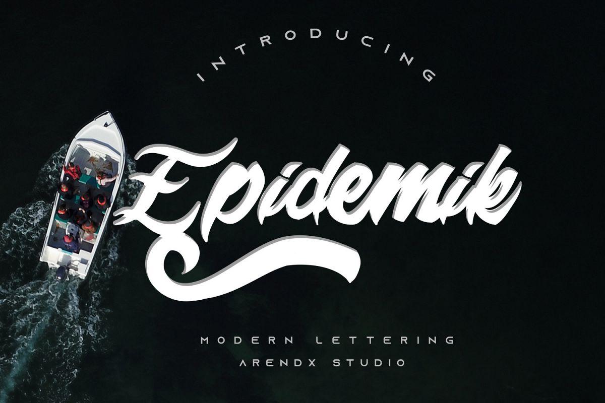 Epidemik Modern Font example image 1