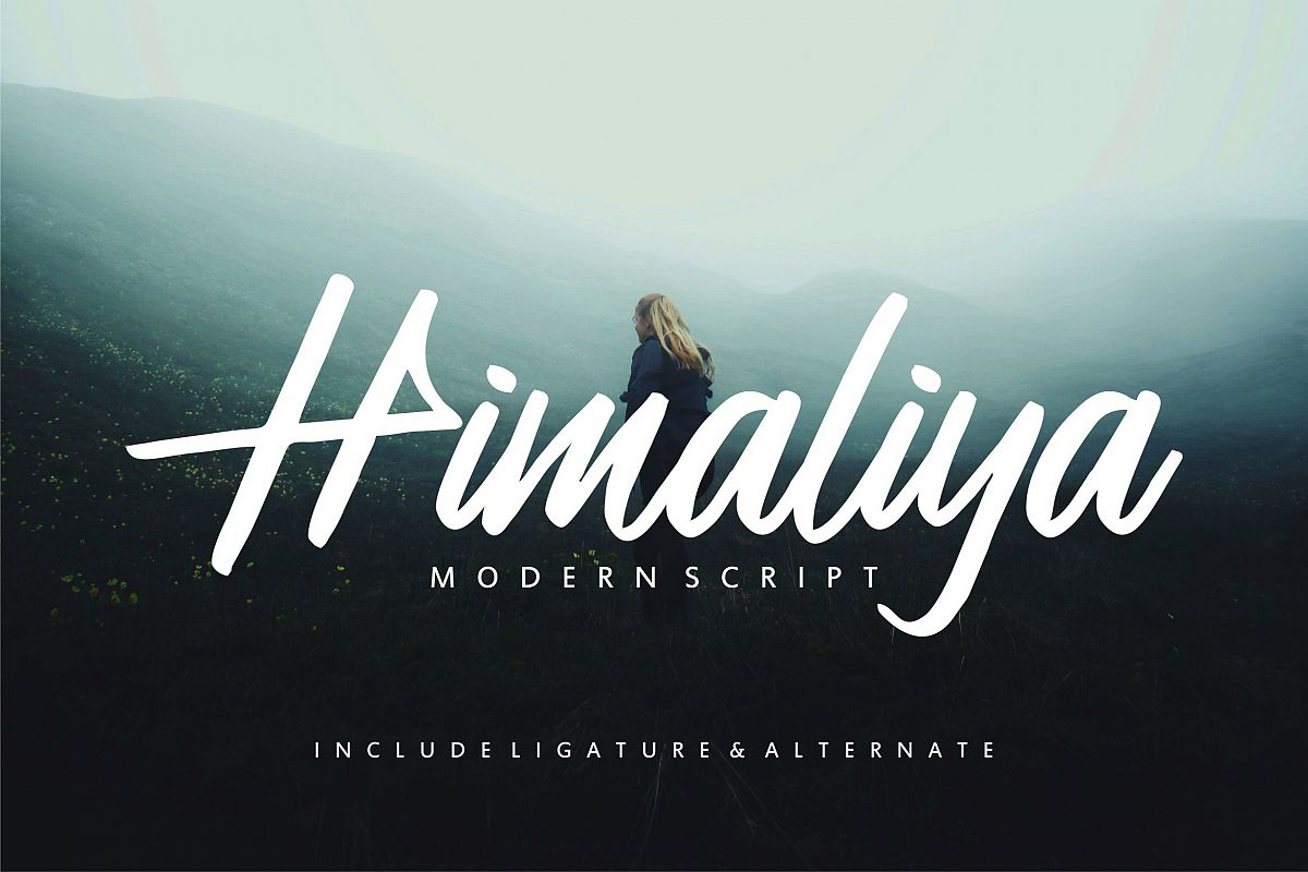 Himaliya | Handwritting Script Font example image 1