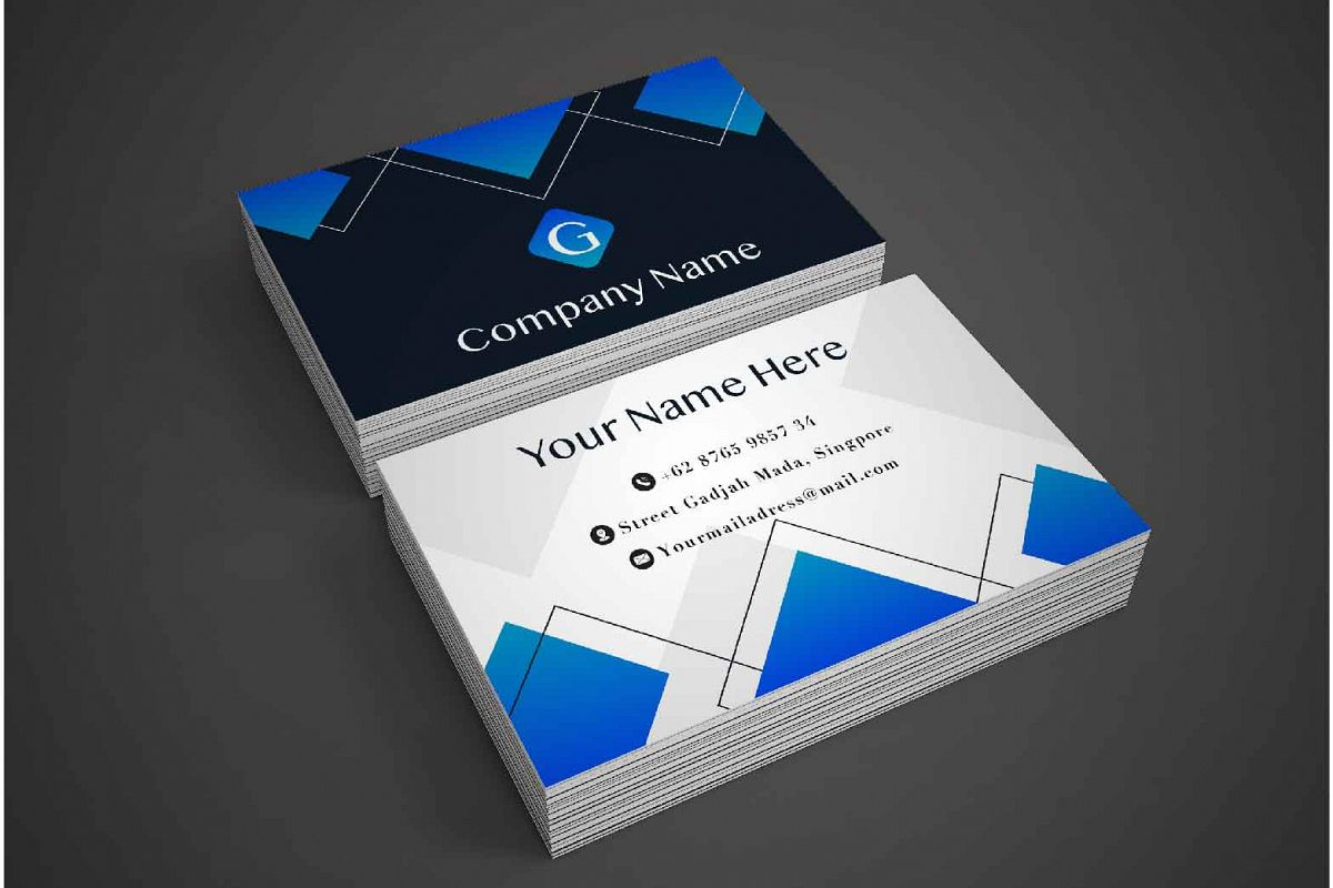 Clean Business Card Template example image 1