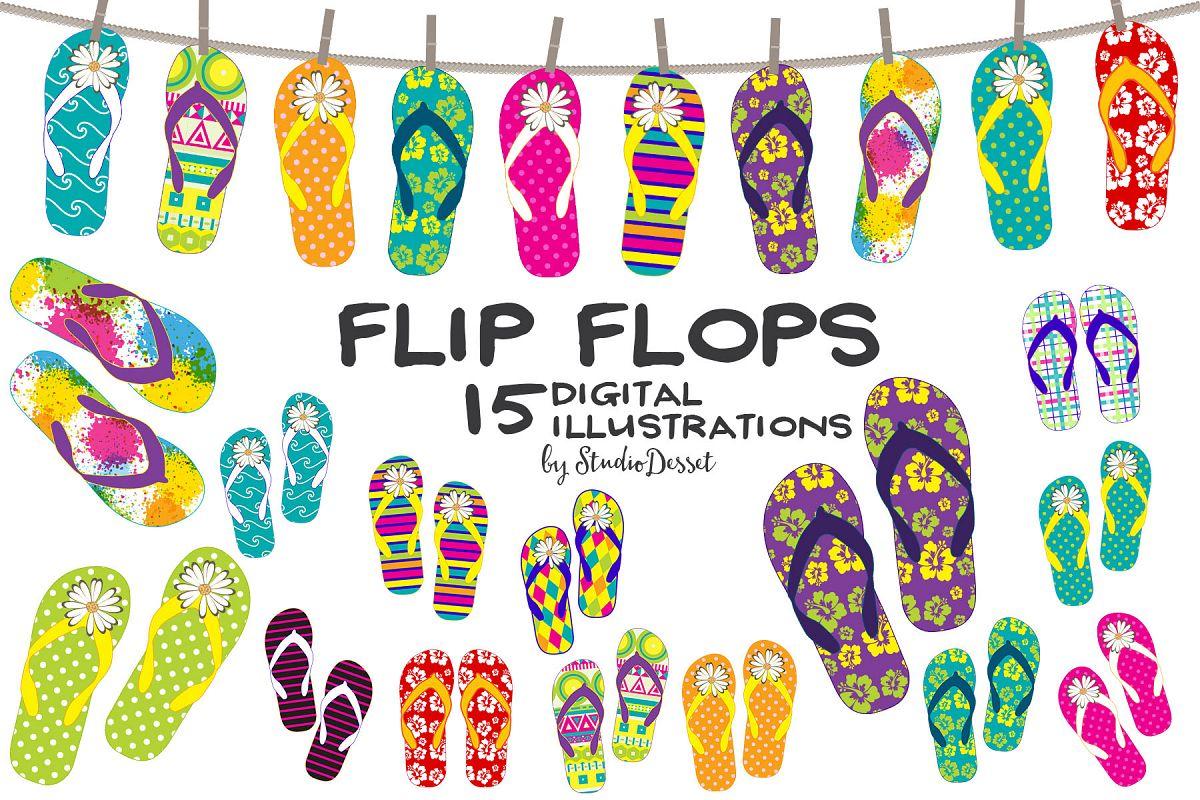 95039a20853244 Flip flops summer beach cliparts example image jpg 1200x800 Summer flip flop  clipart