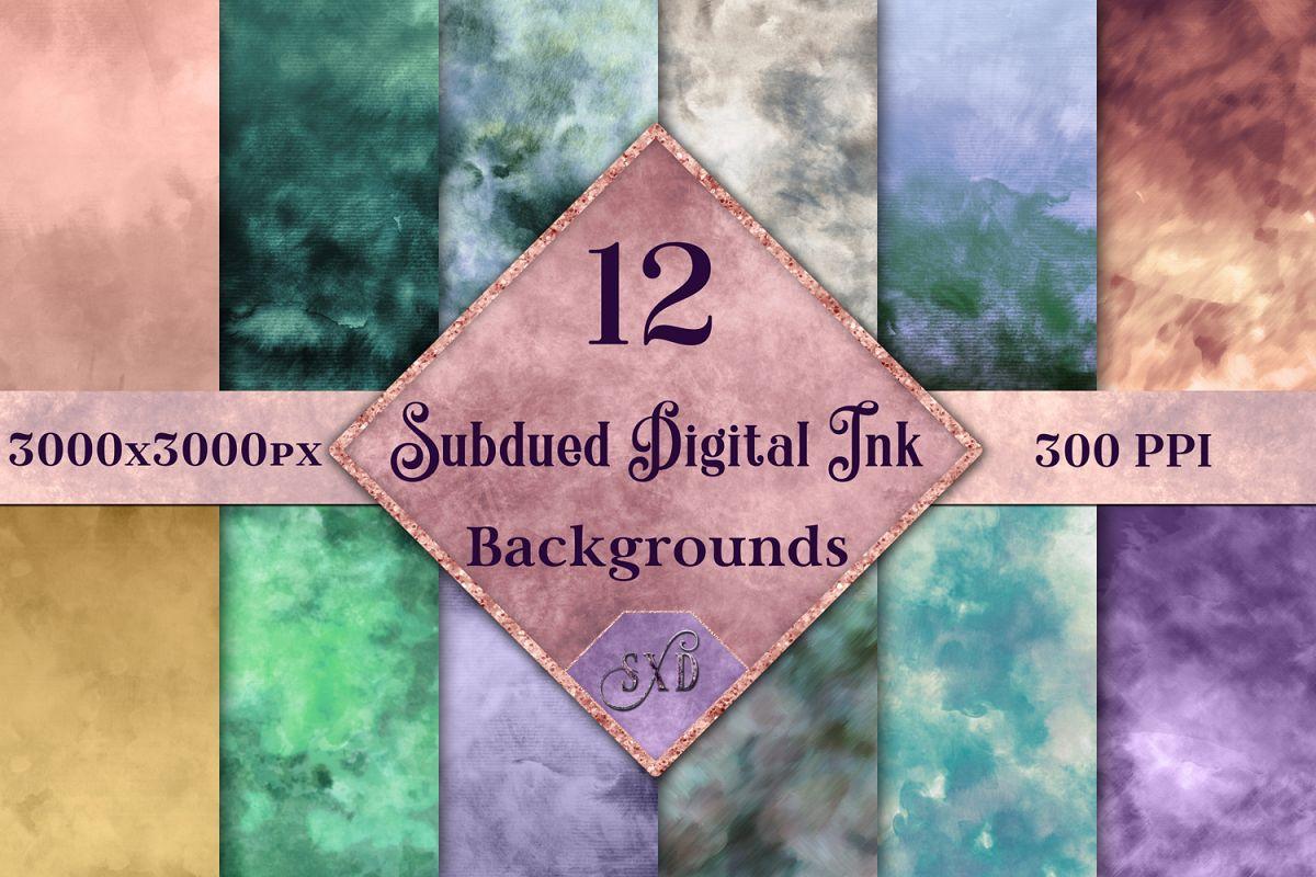 Subdued Digital Ink Backgrounds - 12 Image Set example image 1