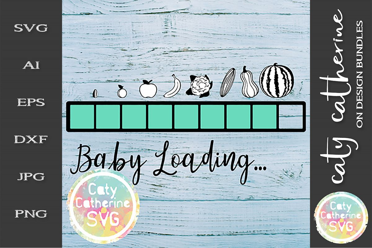 Baby Loading Progress Bar SVG Pregnancy Baby Shower Cut file example image 1