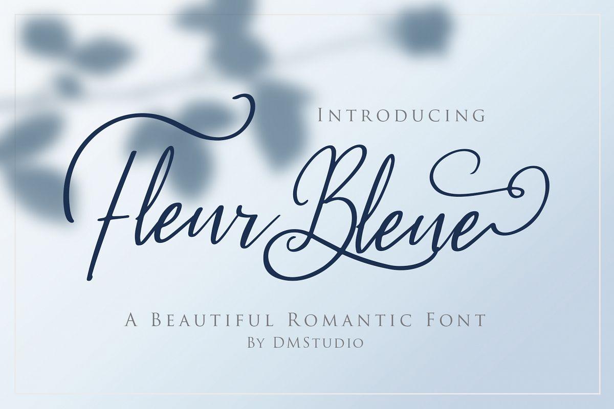 Fleur Bleue - Beautiful Romantic Font example image 1