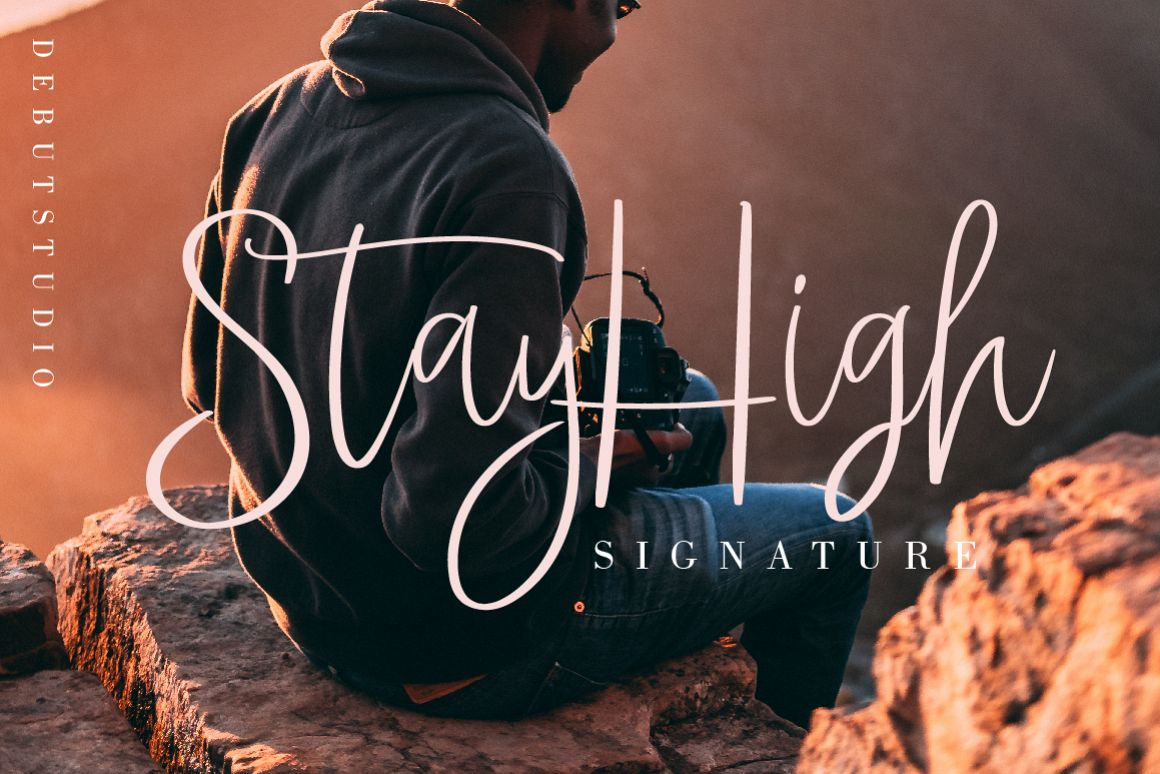 StayHigh Signature Font example image 1