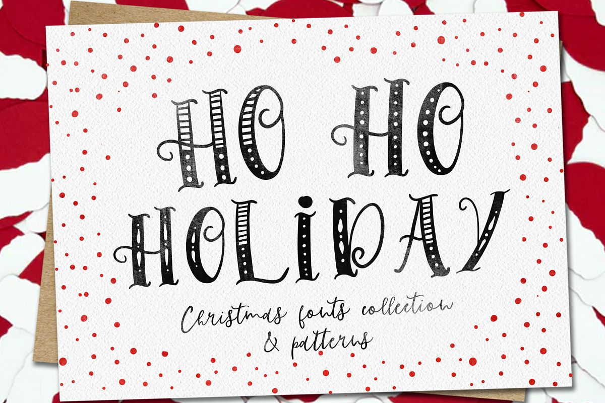 Ho-Ho-Holiday Fonts collection example image 1