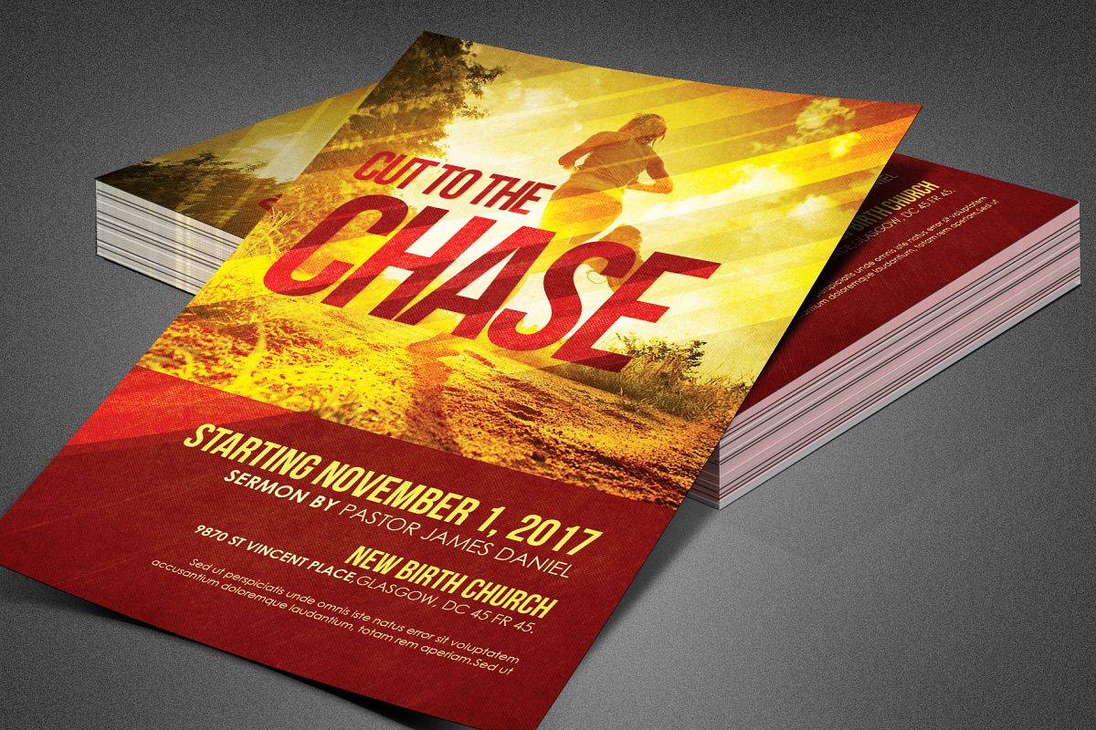 Cut to the Chase Church Flyer example image 1