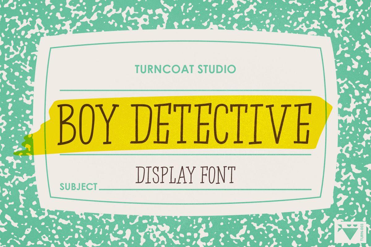 Boy Detective - Display Font example image 1