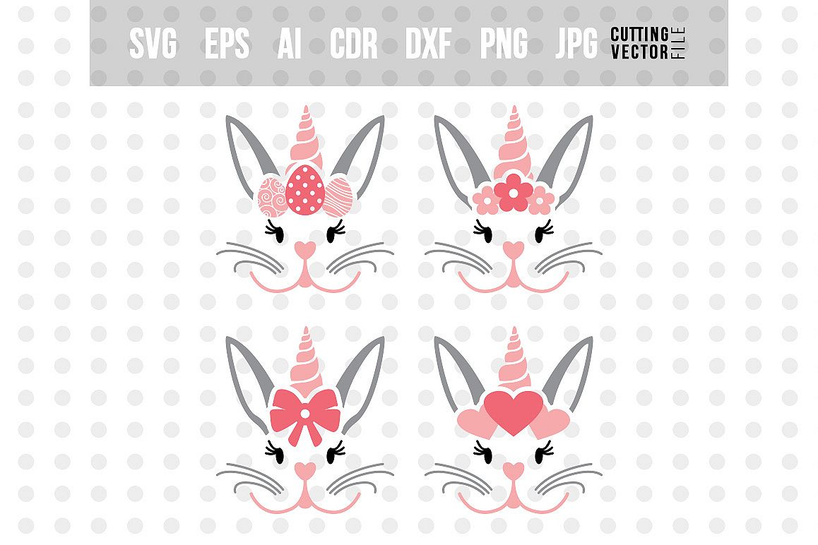 Bunny Unicorn SVG - Bundle example image 1