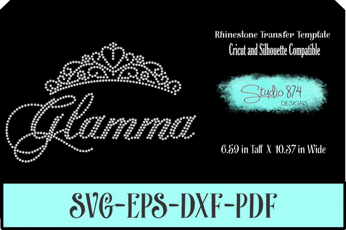 Glamma Rhinestone SVG Template R1 example image 1