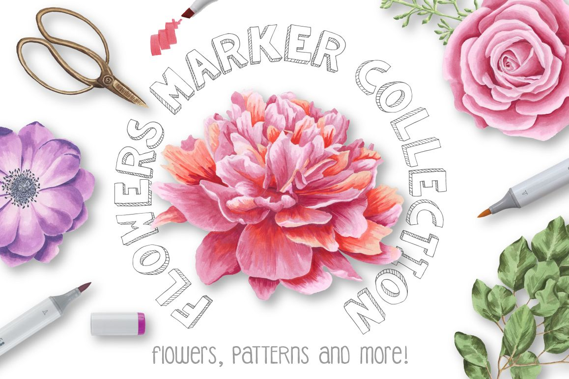 Flower Marker Collection example image 1
