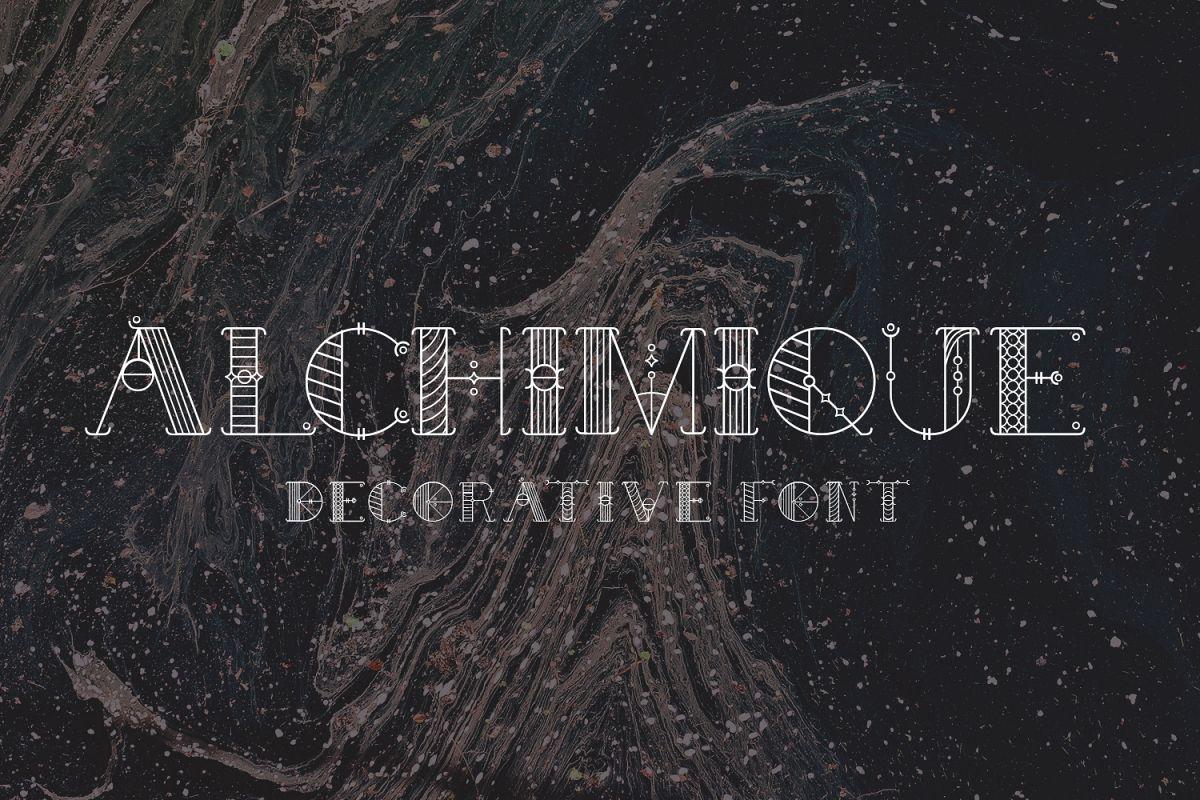 Alchimique Decorative Font example image 1