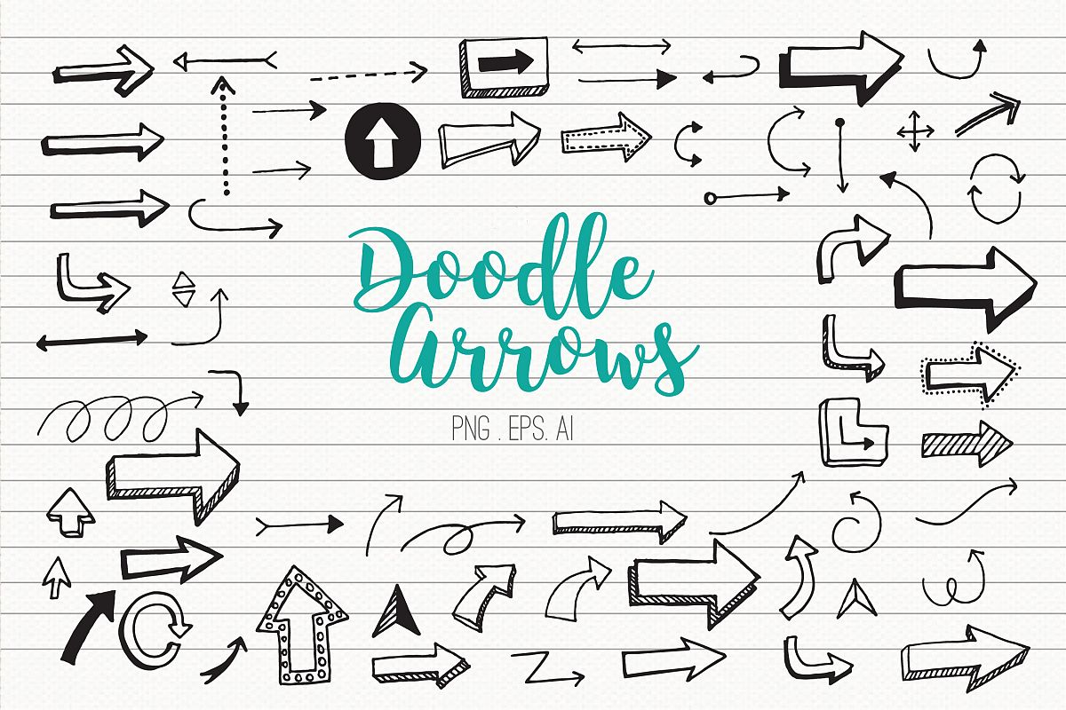 Doodle Arrows Clipart example image 1