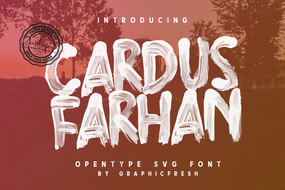 Cardus Brush SVG Font example image 1