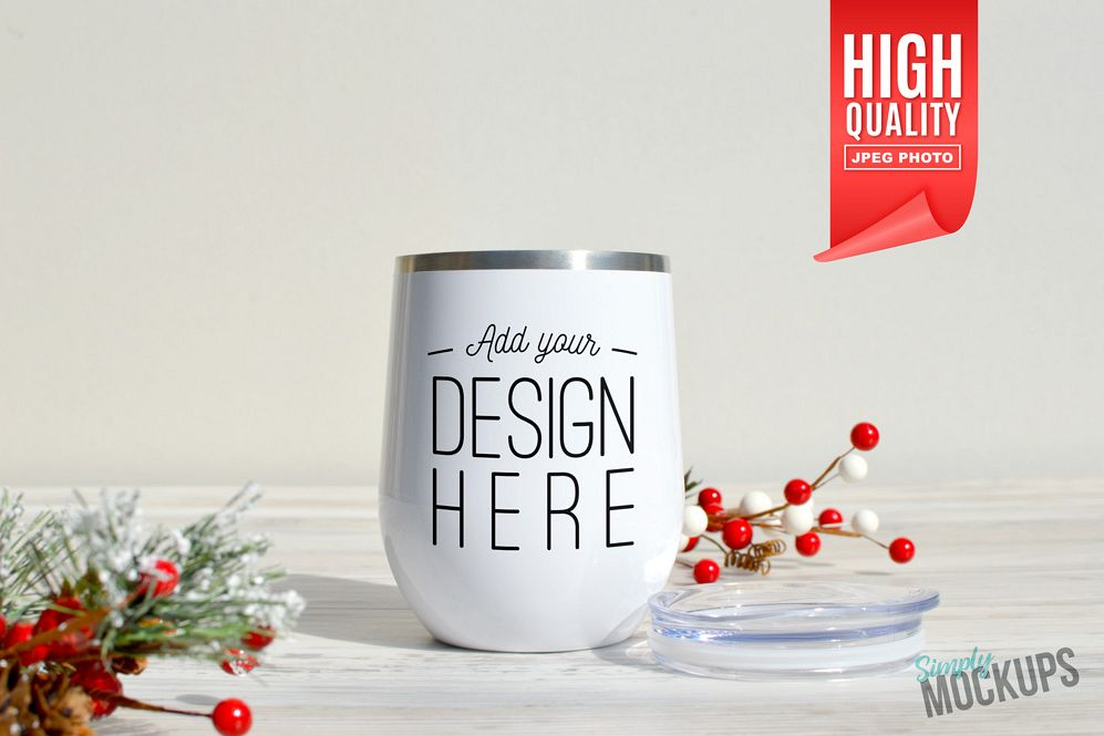 12oz Wine Cup Holiday Mockup example image 1