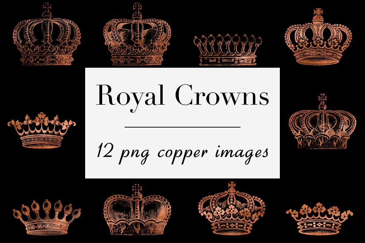Copper Crown Clipart example image 1