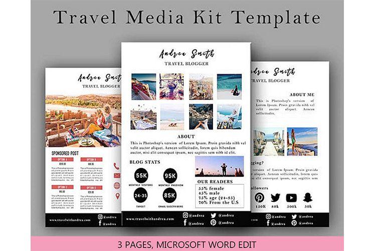 . Travel Media Kit Template 3 Page  Media Press Kit Template