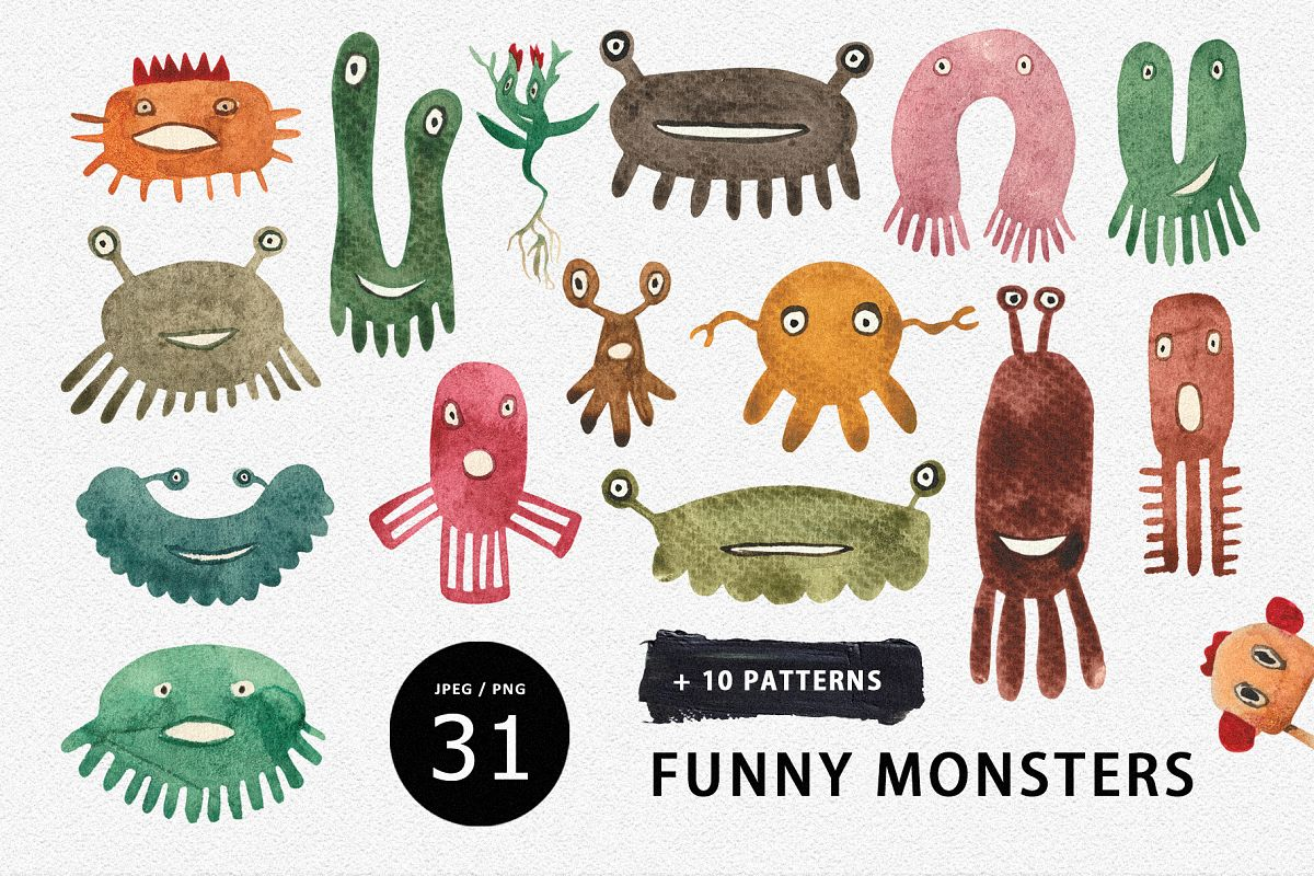 Funny Monsters example image 1
