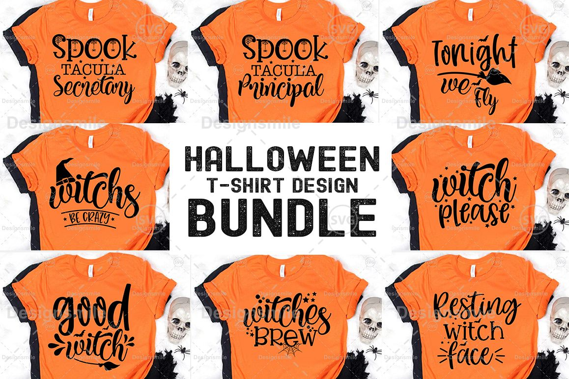 Halloween Tshirt Design Bundle example image 1