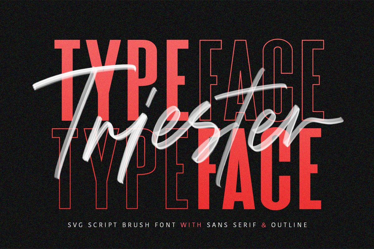 Triester SVG Brush Font Free Sans example image 1