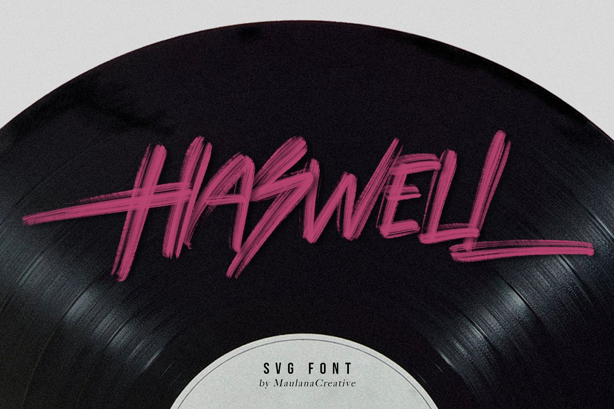 Haswell SVG Brush Font example image 1