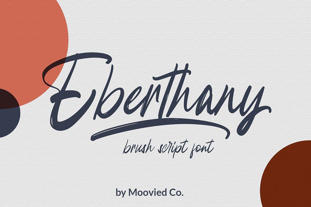 Eberthany Brush Script example image 1