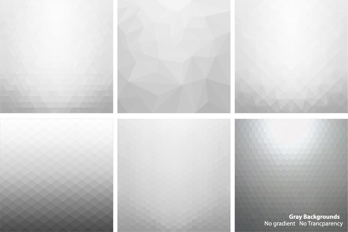 Gray abstract vector backgrounds. example image 1