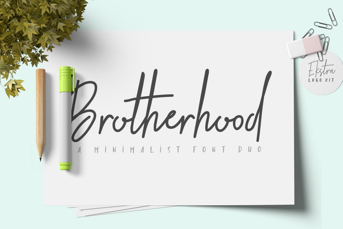 Brotherhood Font Duo + Ekstra example image 1