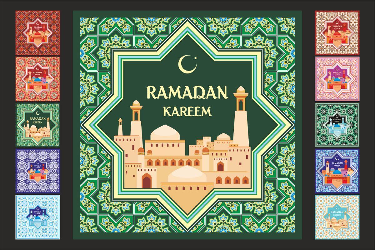 Ramadan. Greeting cards set. example image 1